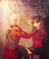 Commission:Archer and Rin (Shocking Truth) by ARISA777o-w-o