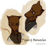 Pipes And Monocles by crazyartist12