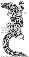 Tribal Crocodile Tattoo by WildSpiritWolf