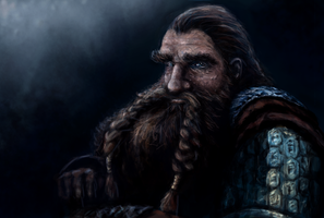 Gimli in Lothlorien by InDeepBlue