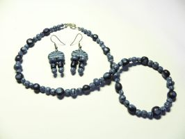 Blue Jewelry Set by neral85