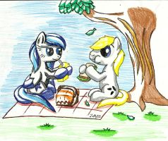 Noah and Dusk Picnic by Laffy372