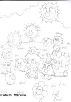 Baby Peach and Baby Creatures by MKDrawings