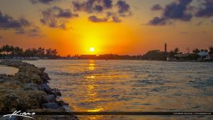 Jupiter-Inlet-Sunset-Waterway-with-Lighthouse by CaptainKimo