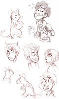 Ratatouille sketches by sharkie19
