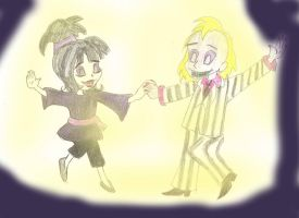 Beetlejuice and Lydia redone by Wordgirlserenity67