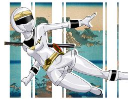 Kakuranger Ninja White by Glee-chan
