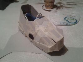 Cardboard Iron Man Boot by Polonx