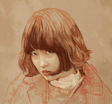 Daily Sketch 20: Park Bo Young in Kdrama by artandwine365