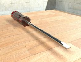 3Ds Max: Screw driver by zeebow14