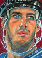 Joe Sakic Avs Leaf Hockey Sketch card by therealbradu