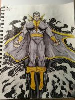 DC 52 Weekly Sketch - Black Atom by PhillipQHudson