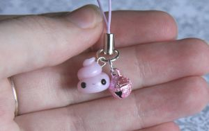 Kawaii Unicorn Poop Phone Strap by RawrRufus