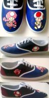 Toad/Toadette Shoes by Various-Aliter