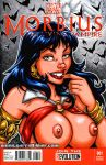 Naughty Vampirella sketch cover by gb2k