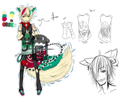 Punk boy adopt auction [CLOSED]+extras by Muuki-chii