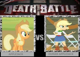DEATH BATTLE: Applejack vs Human Applejack by HunterxColleen