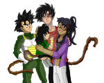 family picture, Puddy and Escaro [finished] by InstinctShadowSaiyan