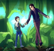 [ LOST ] yang Ben and Richard (first meet) by EarthXXII