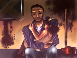Lee and Clementine by SuchAChoirBoy