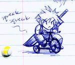 Cloud's sexy bike by Saehral
