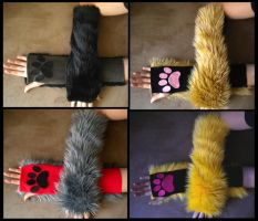 Kitty Arm Warmers long batch 3 by StuffItCreations