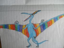 Rainbow Dash the Pteranodon by LacitheHunter