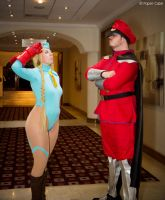 Cammy and M.Bison by Paper-Cube