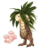 Exeggcute and Exeggutor by RtRadke