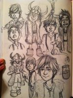 Hiccup Sketch Dump by Michi1223