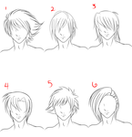 Anime Male Hair Style 1 by RuuRuu-Chan