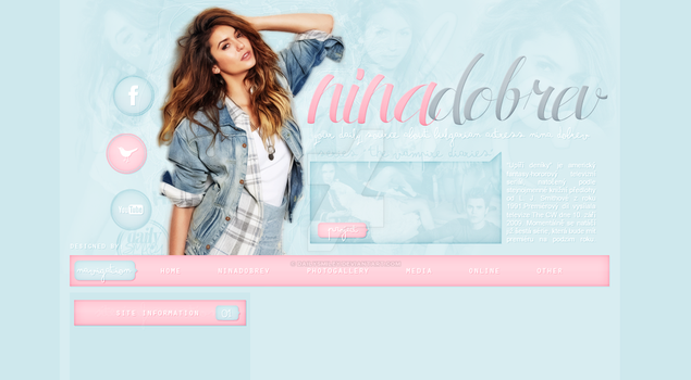 Premade for blog.cz (Nina Dobrev) by dailysmiley