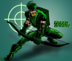 JLA Green Arrow Coloured by kameleon84