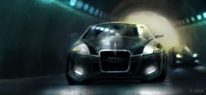 audi in a tunnel by RainPark