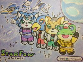 Chibi Star Fox by dengekipororo