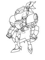 mecha Hagane lineart by PaperBot
