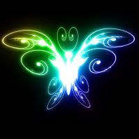 Abstract colorful butterfly by arghus