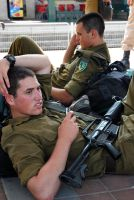 A soldier in Israel by Amalgamax