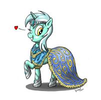 Lyra in gala dress by Kh0nAn