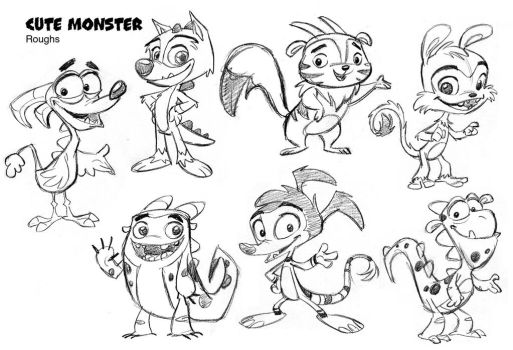 Cute Monsters concepts by tombancroft