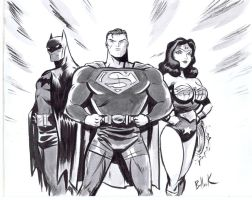 DC's BIG THREE for CHARITY! by DaveBullock