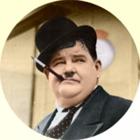 Oliver Hardy Colorized by ajax1946