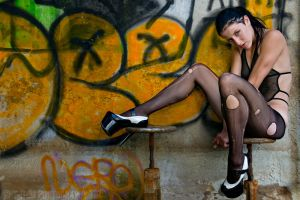 ripped stockings by altctrlx