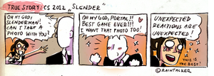 Slender likes Portal too by raintalker