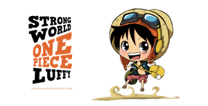 STRONG WORLD Chibi Luffy by ChabeEscalant