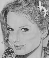 Taylor Swift in Pencil by Romeoartist