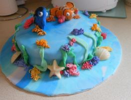 Finding Nemo Cake by emily0410