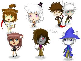 More Chibis by Luycaslima