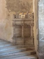 Chateau du Montal 029 - Staircase and bench by HermitCrabStock