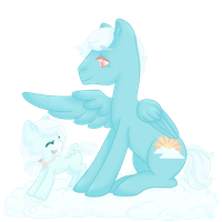 Wishing Fluff and Cumulus by pigchan